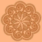 Ornamental round pattern design doodle Stock Photo
