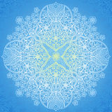 Ornamental round pattern in Eastern style. Stock Images