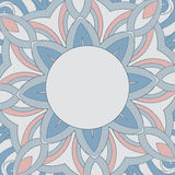 Ornamental round pattern is like mandala Royalty Free Stock Photography