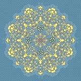 Ornamental round seamless lace pattern stock photo