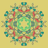 Ornamental round seamless lace pattern Royalty Free Stock Photos