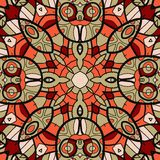 Ornamental round seamless pattern with many Stock Image