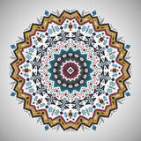 Ornamental roundgeometric pattern in aztec style Stock Photography