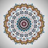 Ornamental roundgeometric pattern in aztec style. Ornamental round colorful geometric pattern in aztec style Stock Photography