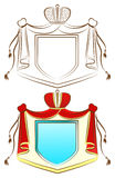 Ornamental Royal Shield. Vector illustration Royalty Free Stock Image