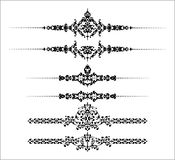 Ornamental Rule Lines Stock Image