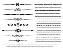 Ornamental rule lines. Decorative ornamental designs rules abstract royalty free illustration