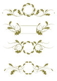 Ornamental Rule lines Stock Images