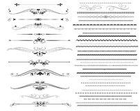 Ornamental rule lines in different design. Decor stock illustration