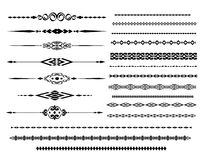 Ornamental rule lines in different design. Decor royalty free illustration