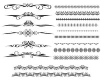 Ornamental rule lines in different design Royalty Free Stock Photos