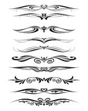Ornamental rule lines in different design. Decor Royalty Free Stock Photos