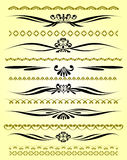 Ornamental rule lines in different design Stock Image