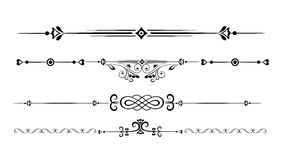 Ornamental rule lines. Set of Ornamental Rule Lines in Different Design styles Stock Photography