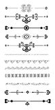 Ornamental rule lines. Set of Ornamental Rule Lines in Different Design styles Stock Photo
