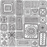 Ornamental scandinavian rectangles seamless pattern stock image