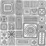 Ornamental scandinavian rectangles seamless pattern Stock Image