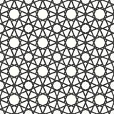 Ornamental seamless arabic geometrical pattern. Looping lines with stars. royalty free illustration
