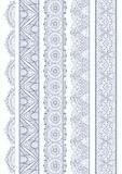 Ornamental Seamless Borders Vector Set for Decor Royalty Free Stock Images