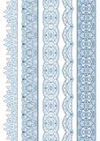 Ornamental Seamless Borders Vector Set for Decor Royalty Free Stock Photography