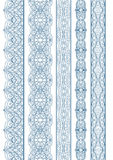 Ornamental Seamless Borders Vector Set for Decor Stock Images