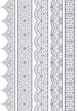 Ornamental Seamless Borders Vector Set for Decor Royalty Free Stock Image