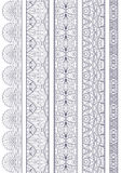 Ornamental Seamless Borders Vector Set for Decor Stock Photography