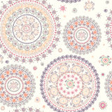 Ornamental seamless circle pattern Stock Photography