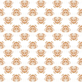 Ornamental seamless damasc pattern for knitting and embroidery. Vector illustration. Stock Photo