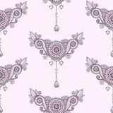 Ornamental seamless ethnic pattern.. Floral design template can be used for wallpaper, pattern fills, textile, fabric, wrapping, surface textures for design Stock Image
