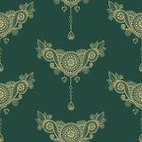 Ornamental seamless ethnic pattern. Floral design template can be used for wallpaper, pattern fills, textile. Fabric, wrapping, surface textures for design Royalty Free Stock Photos