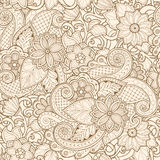 Ornamental seamless ethnic pattern. For wallpaper, pattern fills, textile, fabric, wrapping, surface textures for design Royalty Free Stock Image