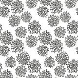 Ornamental seamless floral ethnic black and white pattern. Background can be used for surface design, wallpaper, textile, fabric, wrapping, web. Template for Royalty Free Stock Photo