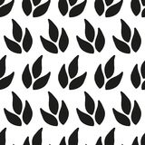Ornamental seamless floral ethnic black and white pattern Royalty Free Stock Photo