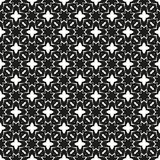 Ornamental seamless floral ethnic black and white pattern Royalty Free Stock Image