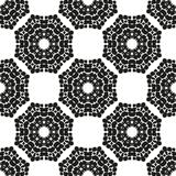 Ornamental seamless floral ethnic black and white pattern. Background can be used for surface design, wallpaper, textile, fabric, wrapping, web. Template for