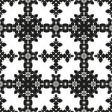 Ornamental seamless floral ethnic black and white pattern Stock Image