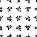 Ornamental seamless floral ethnic black and white pattern Stock Photos