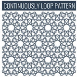 Ornamental seamless loop arabic or islamic geometric pattern tiles. Stock Image