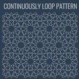 Ornamental seamless loop arabic or islamic geometric pattern tiles. Stock Photography