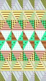 Ornamental seamless patchwork pattern. Ethnic background. Stock Photos
