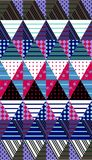Ornamental seamless patchwork pattern. Ethnic background. Vector Royalty Free Stock Image
