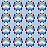 Ornamental seamless pattern, arabic or nordic tile style,  Stock Images