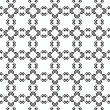 Ornamental seamless pattern. Black and white colors.Endlesstemplate. Royalty Free Stock Photography