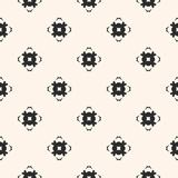 Ornamental seamless pattern with carved floral shapes, mosaic elements. Vector geometric texture. Ornamental seamless pattern. Abstract monochrome background Royalty Free Stock Image