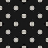Ornamental seamless pattern with carved floral shapes, mosaic elements. Vector geometric texture. Ornamental seamless pattern. Abstract monochrome background Stock Image