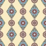 Ornamental seamless pattern. East, oriental design, ethnic style. Vector background of mandala. Islam, Arabic, Indian, ottoman mot Royalty Free Stock Photo