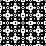 Ornamental seamless pattern. Endless mosaic texture. Ornamental pattern. Vector monochrome seamless texture, black & white geometric pattern, symmetric repeat Royalty Free Stock Photo