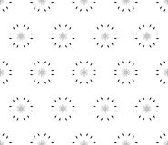 Ornamental seamless pattern, floral background. Vector ornamental seamless pattern, light minimalist geometric background, abstract monochrome minimal floral Royalty Free Stock Image