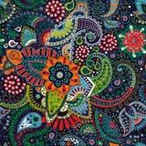 Ornamental seamless pattern. Floral background, ornamental wallpaper Stock Photos